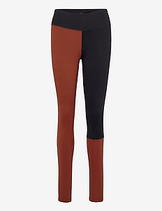 Block 7/8 Tights - running & training tights - brave brown