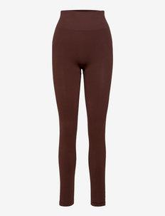 Classic Seamless Tights - collants d'entraînement - mahogany red