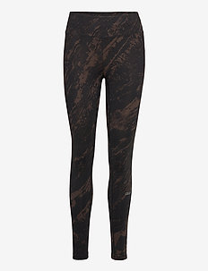 Classic Printed 7/8 Tights - löpnings- och träningstights - impulsive brown
