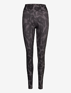 Awake Printed Tights - running & training tights - passion grey