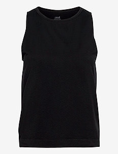 Seamless Blocked Tank - topjes - black