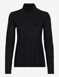 Ease Turtle Neck - langarmshirts - black
