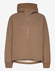 Zip Hoodie - bluzy z kapturem - brown melange