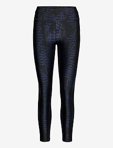 Iconic Printed 7/8 Tights - juoksu- & treenitrikoot - survive dk blue metallic