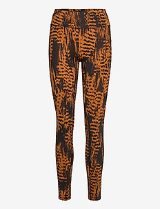 Iconic Printed 7/8 Tights - running & training tights - survive brown