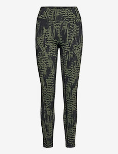 Iconic Printed 7/8 Tights - juoksu- & treenitrikoot - survive dk green