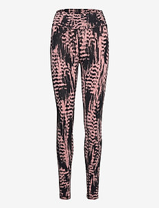 Iconic Printed 7/8 Tights - running & training tights - survive pink