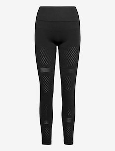 Seamless Blocked Tights - juoksu- & treenitrikoot - black