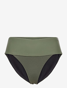 Iconic High Waist Bikini Bottoms - doły strojów kąpielowych - northern green
