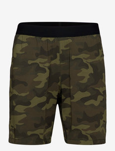 M Printed Elastic Shorts - träningsshorts - action green