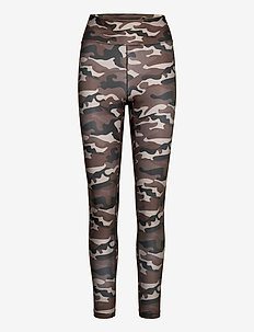 Printed Sport Tights - juoksu- & treenitrikoot - grey paint