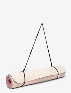 Yoga mat position 4mm - joogatarvikkeet - beige/pink