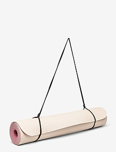 Yoga mat position 4mm - yoga equipment - beige/pink