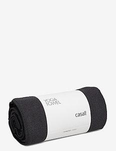 Yoga towel - yoga mats & equipment - black