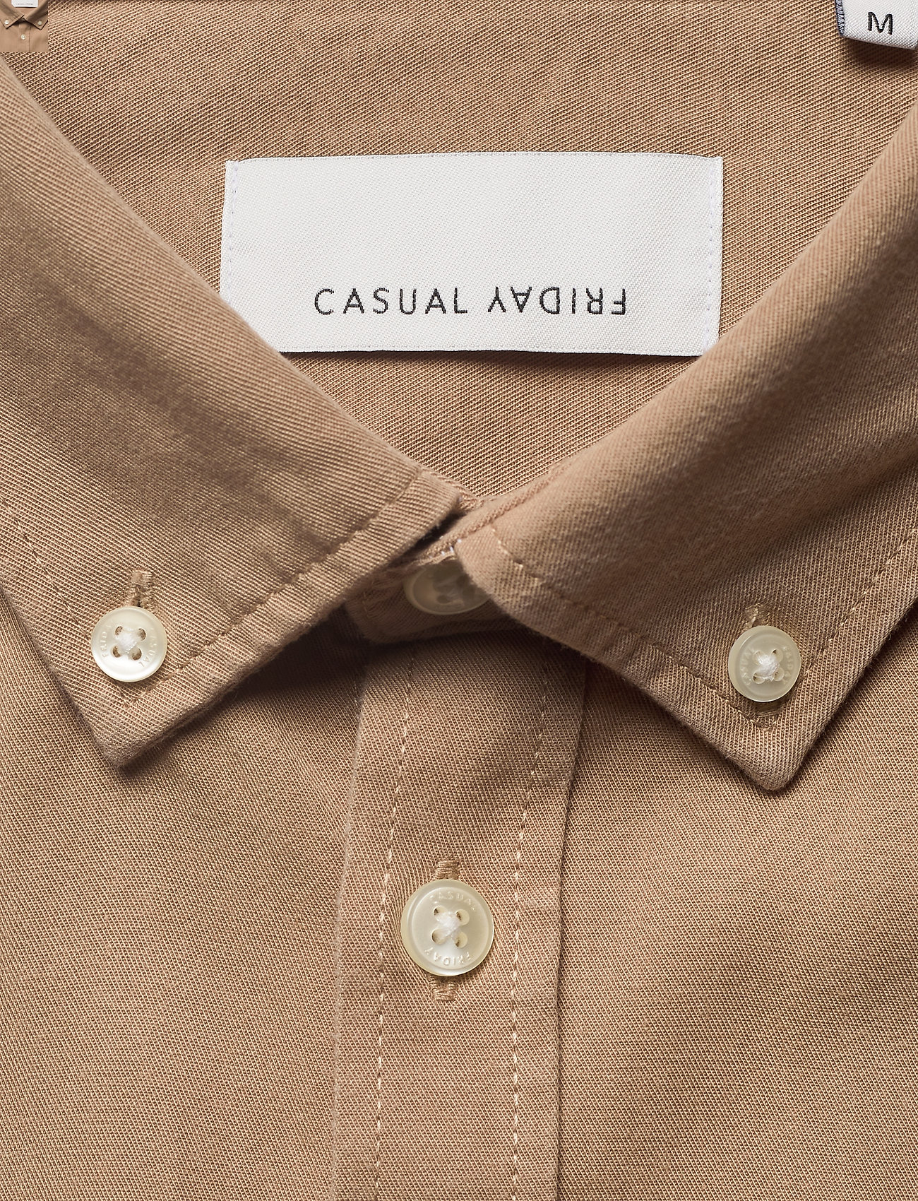Casual Friday - Anton BD LS garment dyed shirt - kleding - incense - 2