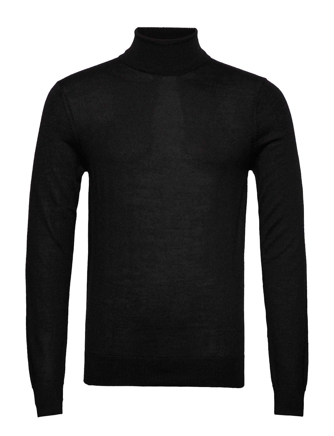 Casual Friday Pullover Merino knit - BLACK