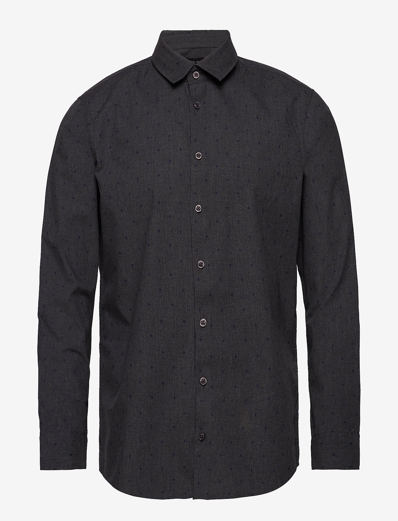 Casual Friday - Shirt Slim fit - casual-paidat - pewter mix