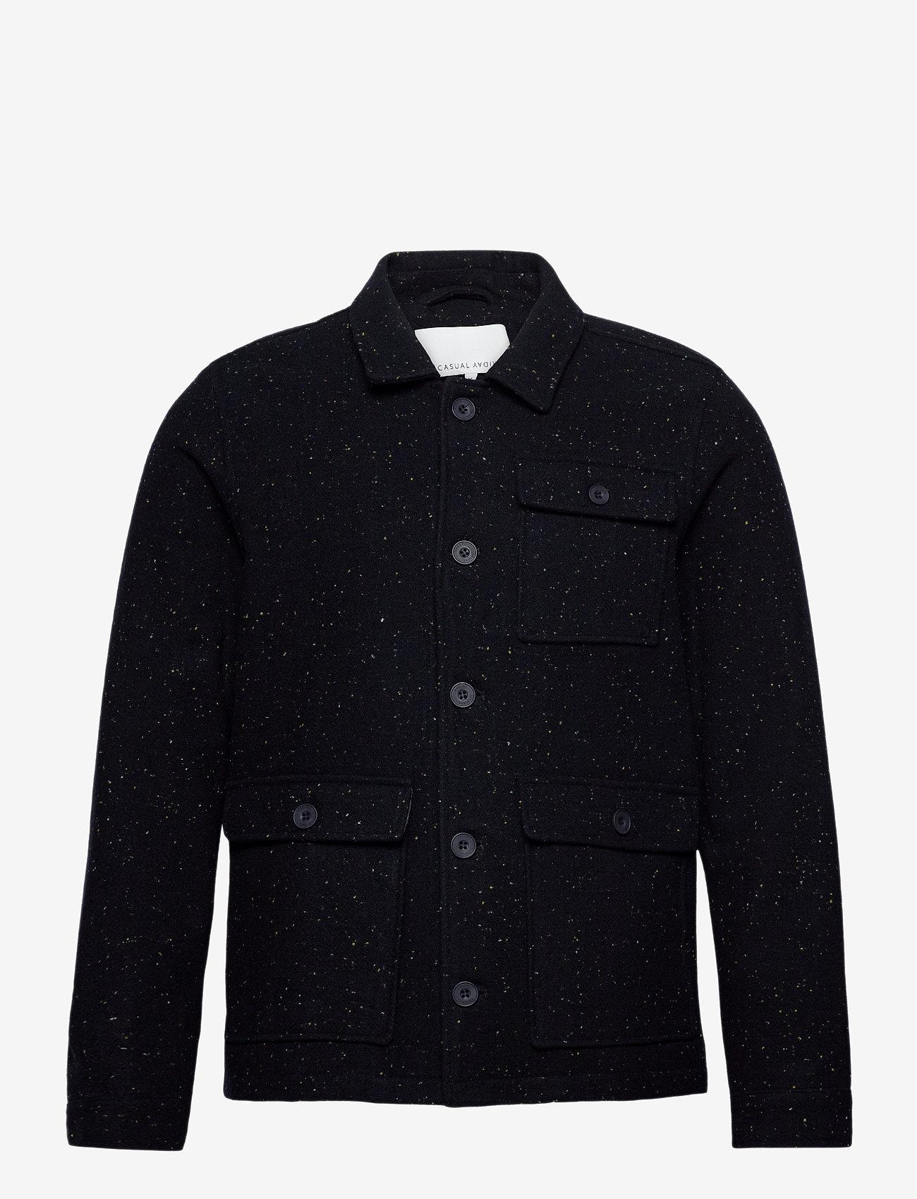 Casual Friday - Jalte nepyarn jacket Nep yarn wool - wool jackets - navy blazer - 0