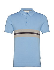 Knit polo - ROBBIA BLUE
