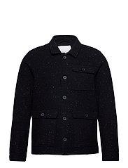 Jalte nepyarn jacket Nep yarn wool - NAVY BLAZER