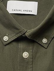 Casual Friday - Anton BD LS garment dyed shirt - vêtements - olivine - 2