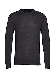 Pullover O-neck - PEWTER MIX