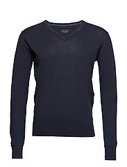 Pullover Basic knit pullover - NAVY