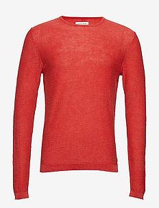 Pullover - basic gebreide truien - cherry red