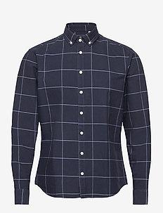 Anton BD LS shirt - rutede skjorter - navy blazer