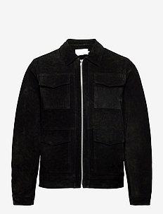 Laust suede jacket Suede jacket - skinnjackor - phantom