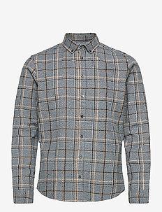 Anton BD LS shirt - avslappede skjorter - pewter mix