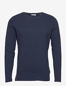 Theo LS t-shirt - t-shirts basiques - navy blazer