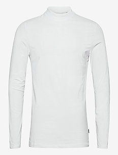 Theo LS turtle neck t-shirt - basisstrikkeplagg - bright white
