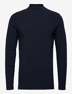 Theo LS turtle neck t-shirt - basisstrikkeplagg - navy blazer