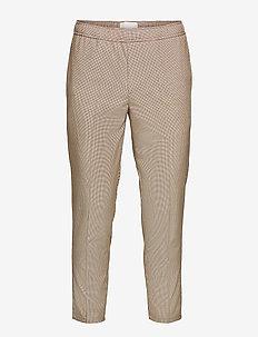 Pilou small checked pants - pantalons décontractés - silver mink