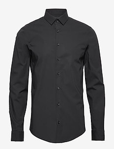 Palle slim fit shirt - formele overhemden - black