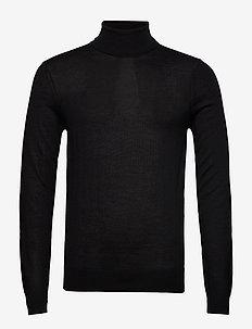 Konrad Merino Roll Neck Knit - rullekraver - black