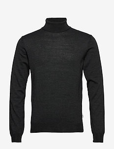 Konrad Merino Roll Neck Knit - turtleneck - dark grey melange