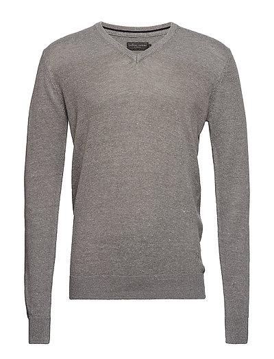 Pullover Basic knit pullover - MID GREY MELANGE