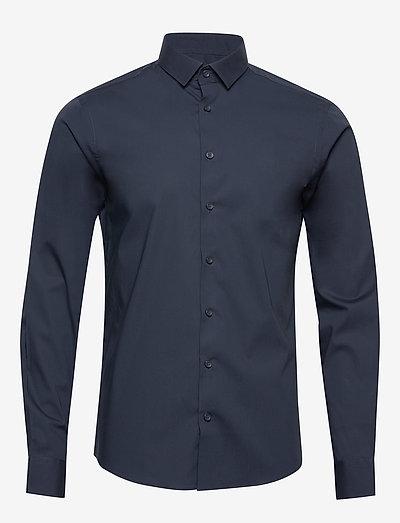Palle slim fit shirt - chemises de lin - navy