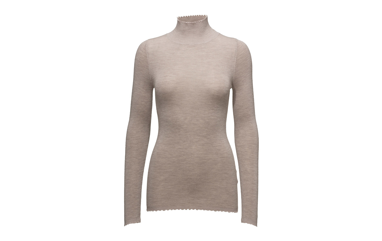 Merinowool Turtleneck Light Cathrine 100 Grey Hammel Frayed Melange wqWPBp