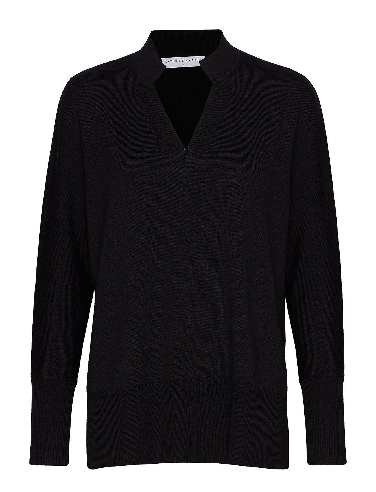 Cathrine Hammel Tunisian sweater - BLACK