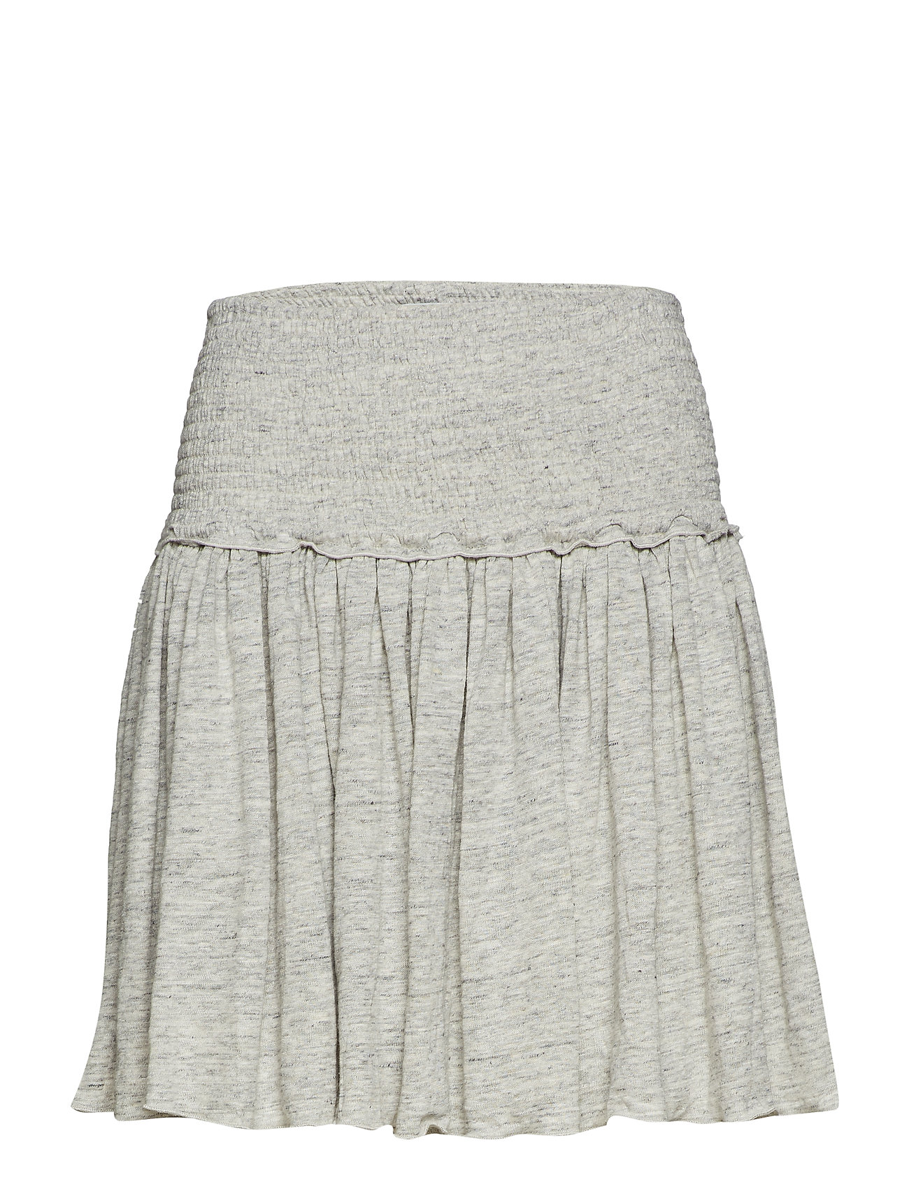 Cathrine Hammel Linen smock skirt - GREY MELANGE