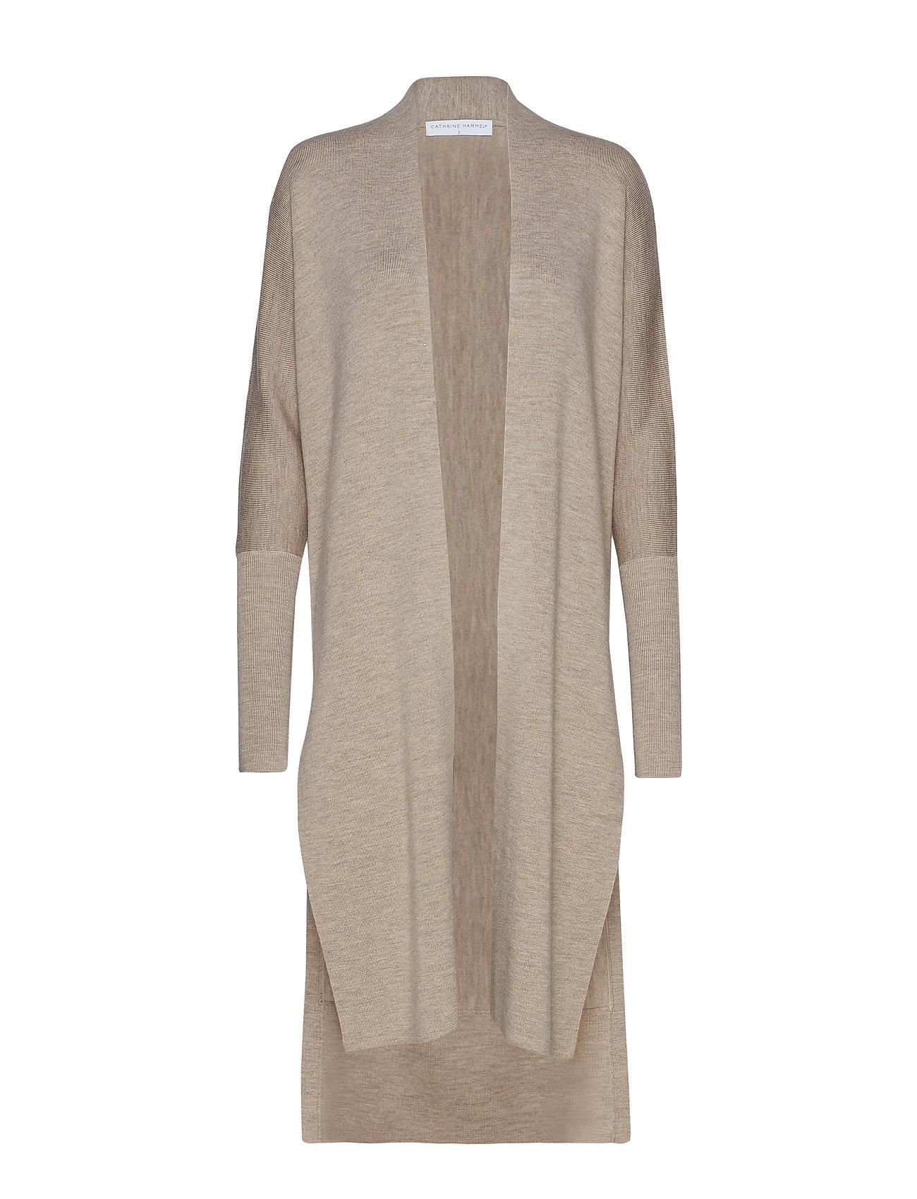 Cathrine Hammel Demi shawl w/ splits - OATMEAL MELANGE
