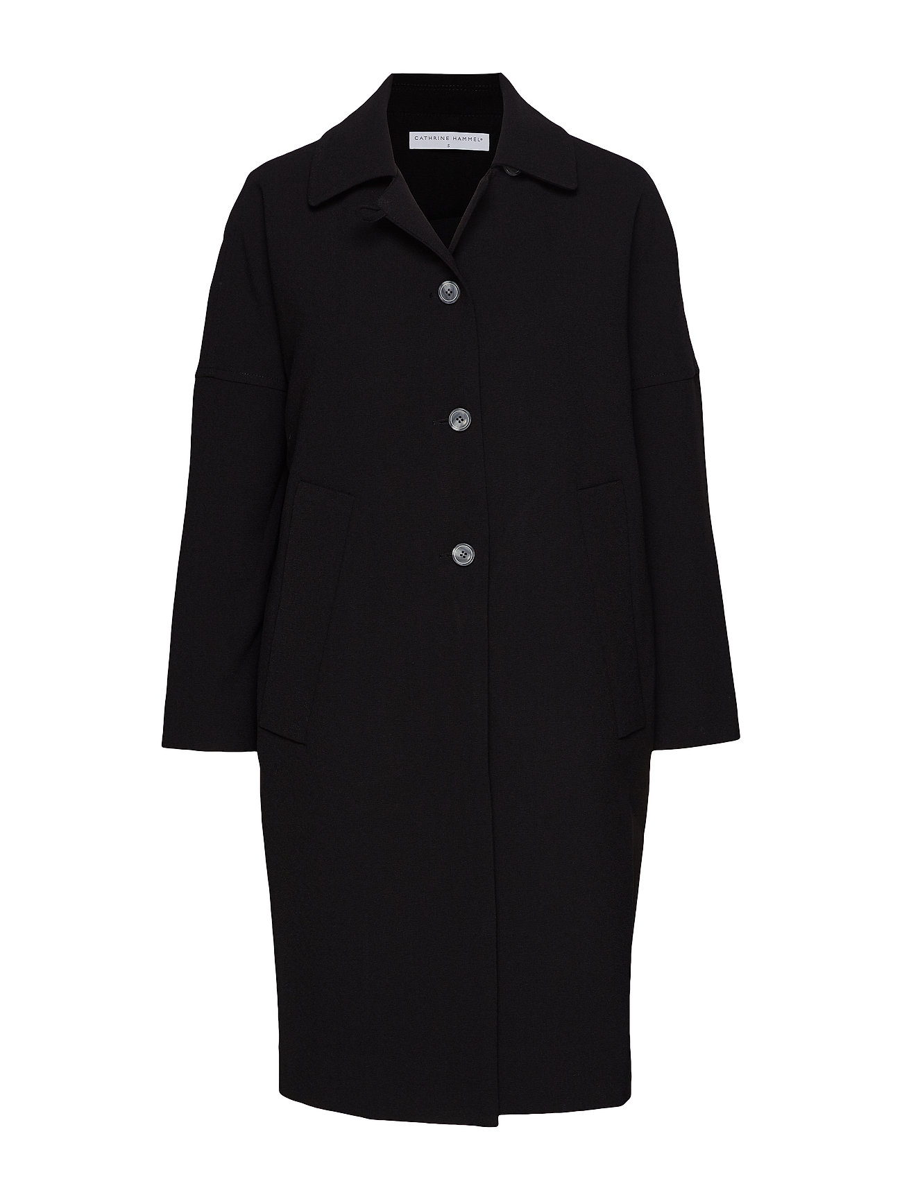 Cathrine Hammel Cocoon overcoat - BLACK