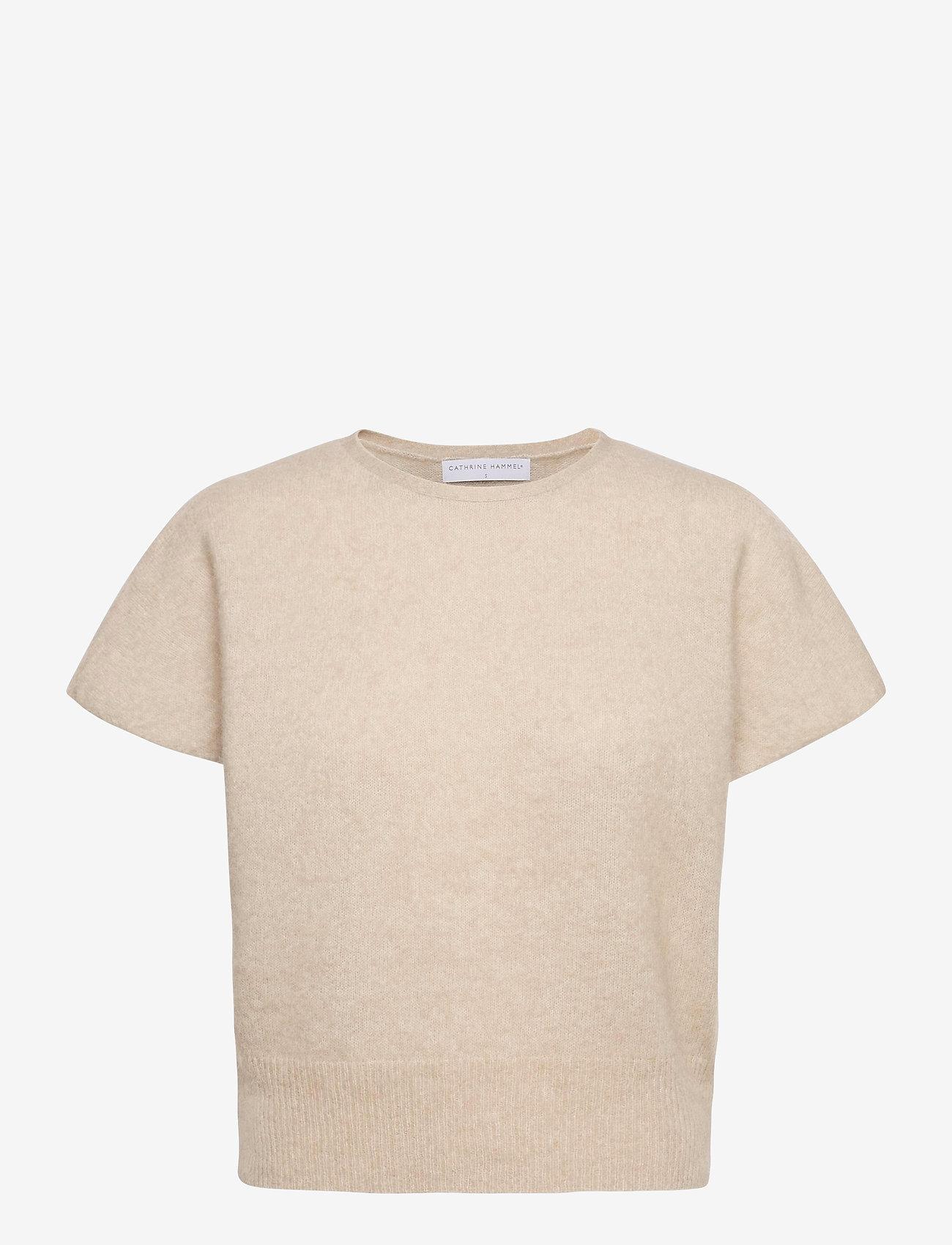 Cathrine Hammel - Soft wide sleeveless top - strikkede toppe - warm grey - 0