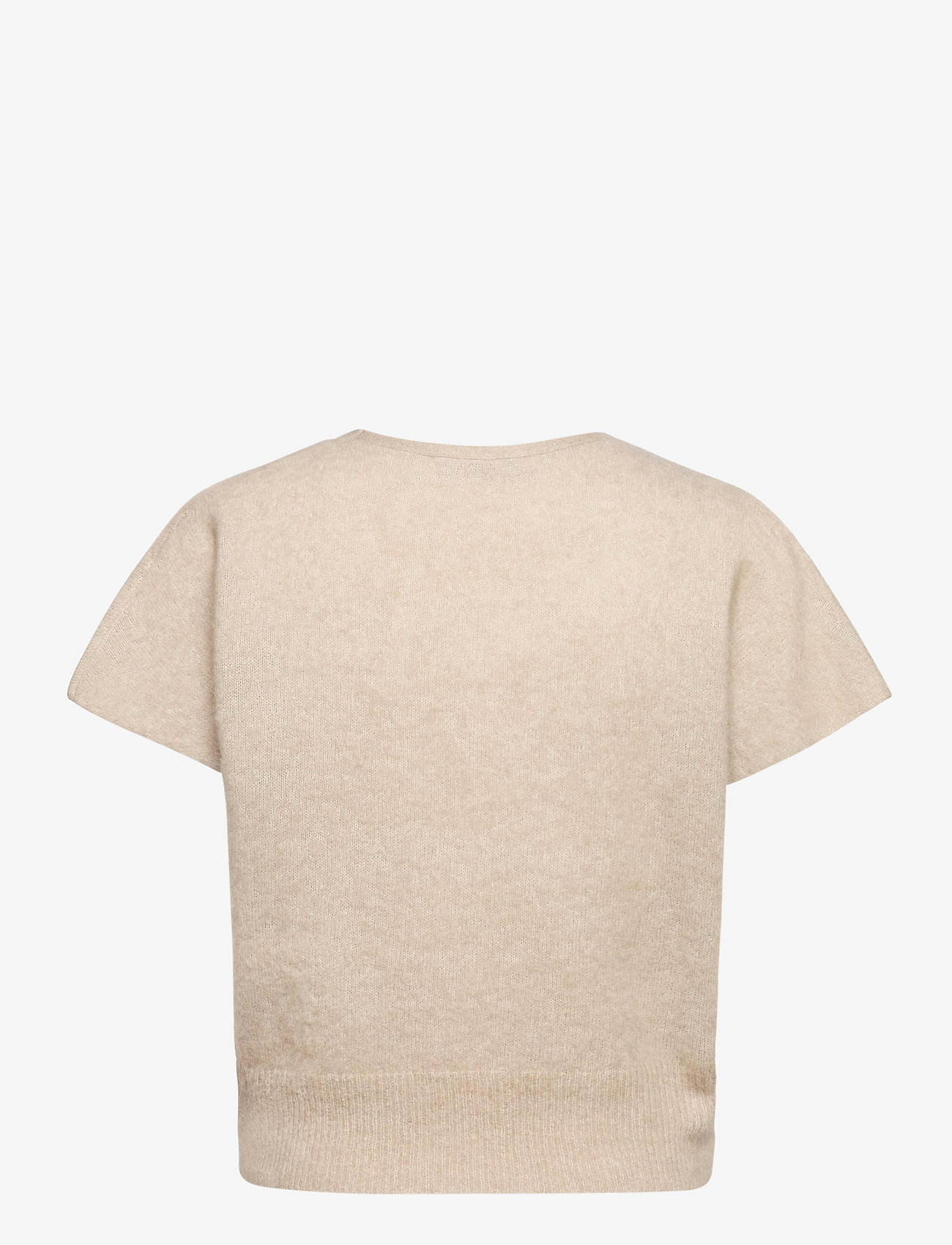 Cathrine Hammel - Soft wide sleeveless top - strikkede toppe - warm grey - 1