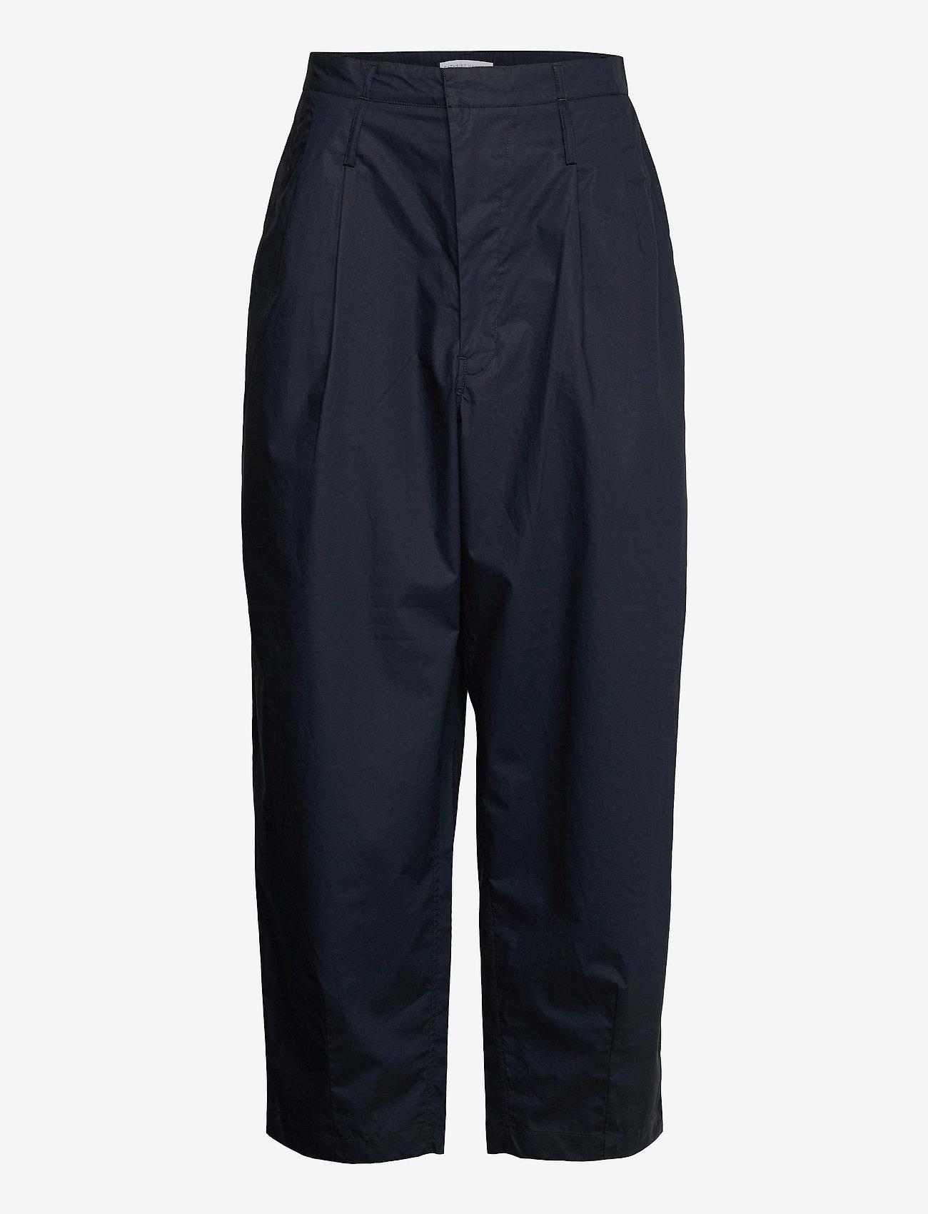Cathrine Hammel - Wide ov pants - bukser med brede ben - dark ink - 0
