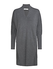 Wide dress - DARK GREY MELANGE
