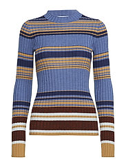 Weave striped sweater - THUNDER BLUE STRIPES